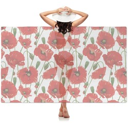 Poppies Sheer Sarong (Personalized)