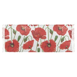 Poppies Faux Pashmina Scarf (Personalized)