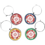 Poppies Wine Charms (Set of 4) (Personalized)