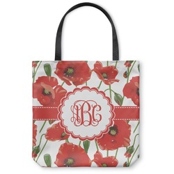 Poppies Canvas Tote Bag (Personalized)