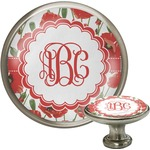 Poppies Cabinet Knob (Silver) (Personalized)