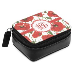 Poppies Small Leatherette Travel Pill Case (Personalized)