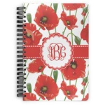 Poppies Spiral Bound Notebook (Personalized)