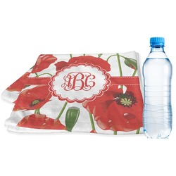 Poppies Sports Towel (Personalized)