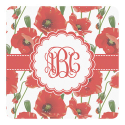 Poppies Square Decal - Medium (Personalized)
