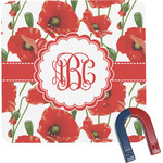 Poppies Square Fridge Magnet (Personalized)
