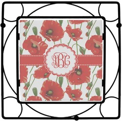 Poppies Square Trivet (Personalized)