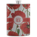 Poppies Stainless Steel Flask (Personalized)