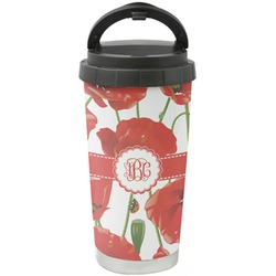 Poppies Stainless Steel Travel Mug (Personalized)