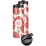 Poppies Stainless Steel Skinny Tumbler (Personalized)
