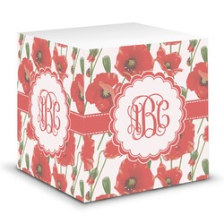 Poppies Sticky Note Cube (Personalized)