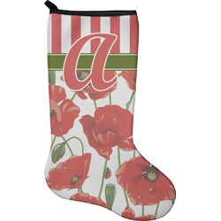 Poppies Christmas Stocking - Single-Sided - Neoprene (Personalized)