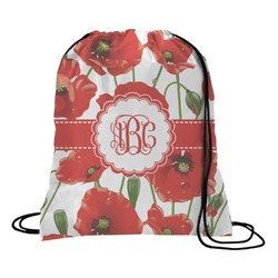 Poppies Drawstring Backpack (Personalized)