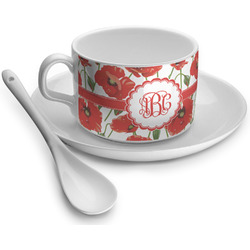 Poppies Tea Cup - Single (Personalized)