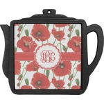 Poppies Teapot Trivet (Personalized)