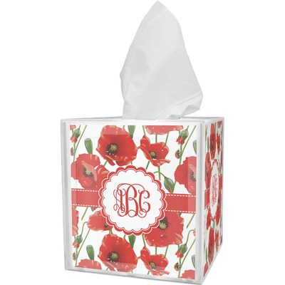 Poppies Tissue Box Cover (Personalized)