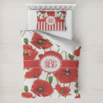 Poppies Toddler Bedding w/ Monogram