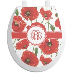 Poppies Toilet Seat Decal (Personalized)