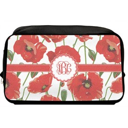 Poppies Toiletry Bag / Dopp Kit (Personalized)