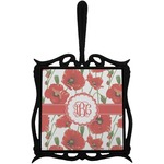 Poppies Trivet with Handle (Personalized)