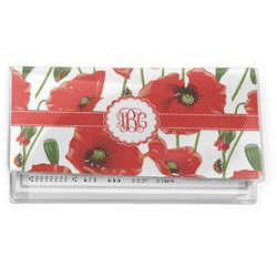 Poppies Vinyl Checkbook Cover (Personalized)