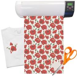 Poppies Heat Transfer Vinyl Sheet (12