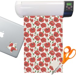 Poppies Sticker Vinyl Sheet (Permanent)