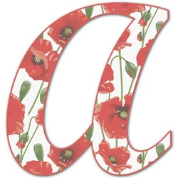 Poppies Letter Decal - Custom Sizes (Personalized)