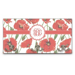 Poppies Wall Mounted Coat Rack (Personalized)