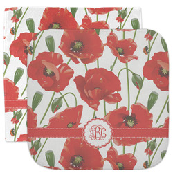 Poppies Facecloth / Wash Cloth (Personalized)