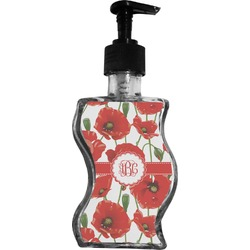 Poppies Wave Bottle Soap / Lotion Dispenser (Personalized)