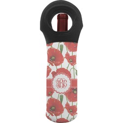 Poppies Wine Tote Bag (Personalized)