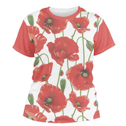 Poppies Women's Crew T-Shirt (Personalized)