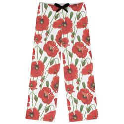 Poppies Womens Pajama Pants (Personalized)
