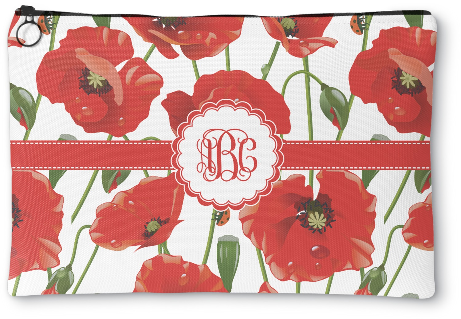 6cf61cfb3f98e7 Poppies Zipper Pouch (Personalized) - YouCustomizeIt