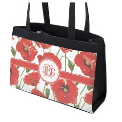 Poppies Zippered Everyday Tote (Personalized)