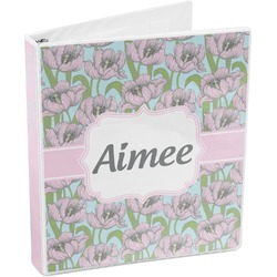 Wild Tulips 3-Ring Binder (Personalized)
