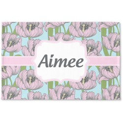 Wild Tulips Woven Mat (Personalized)