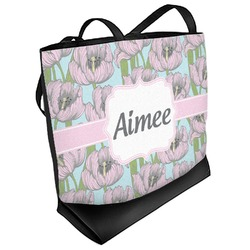 Wild Tulips Beach Tote Bag (Personalized)
