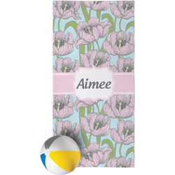Wild Tulips Beach Towel (Personalized)