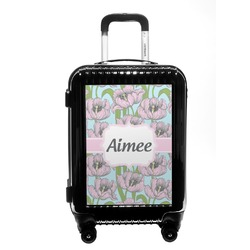 Wild Tulips Carry On Hard Shell Suitcase (Personalized)