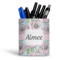 Wild Tulips Ceramic Pen Holder