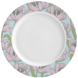 Wild Tulips Ceramic Dinner Plates (Set of 4) (Personalized)