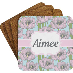 Wild Tulips Coaster Set (Personalized)
