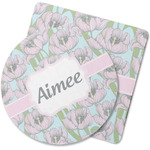 Wild Tulips Rubber Backed Coaster (Personalized)
