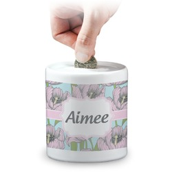 Wild Tulips Coin Bank (Personalized)