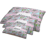 Wild Tulips Dog Bed w/ Name or Text