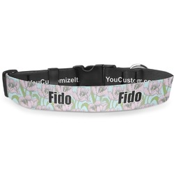 Wild Tulips Deluxe Dog Collar (Personalized)
