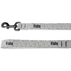 Wild Tulips Deluxe Dog Leash (Personalized)