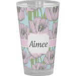 Wild Tulips Drinking / Pint Glass (Personalized)